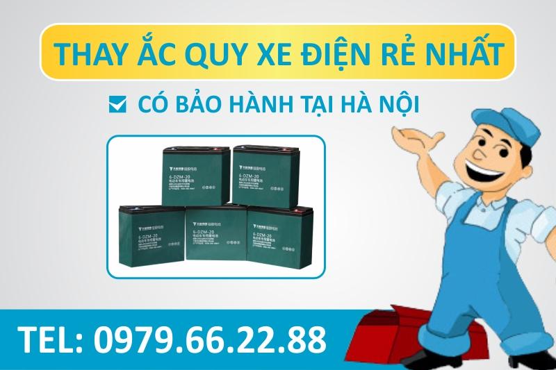 Thay - sửa ắc quy xe điện chính hãng hàng đầu tại Hà Nội
