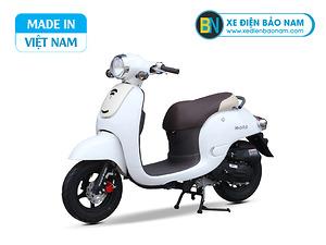 Xe ga 50cc Giorno Mono phanh đĩa màu trắng
