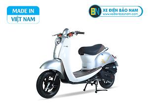 Xe ga 50cc Scoopy màu xám yếm trắng
