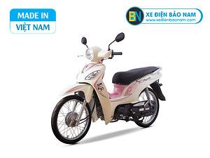 Xe máy Sym Angela 50cc màu trắng hồng