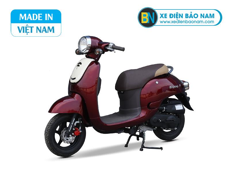 Xe ga 50cc Giorno Mono phanh đĩa màu đỏ mận