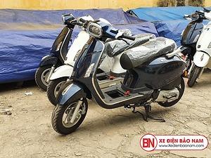 Xe ga 50cc Nio S Đèn Vuông 2020 Màu Xanh Cửu Long