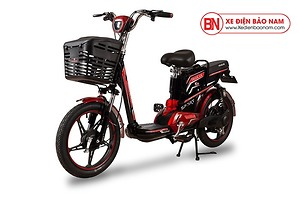 Xe đạp điện Osakar A9 màu đen tem đỏ