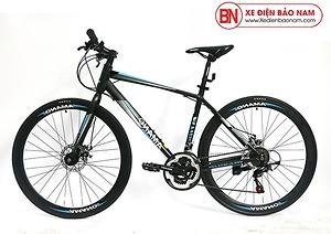 Xe đạp Amano AT100 mới nhất màu đen xanh