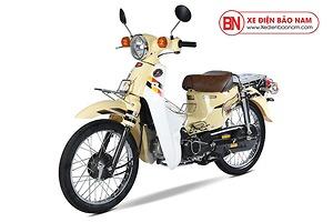 Xe máy Cub 81 Hyosung màu kem