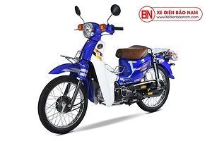 Xe máy Cub 81 Hyosung màu xanh lam