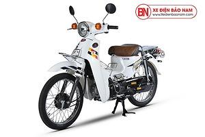 Xe máy Cub 81 Hyosung màu trắng