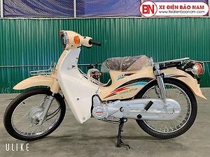 Xe Cub Daelim RC 50cc màu trắng sữa