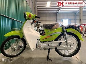 Xe Cub Daelim RC 50cc màu xanh chuối