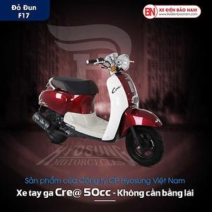 Xe ga 50cc Crea Hyosung màu đỏ mận