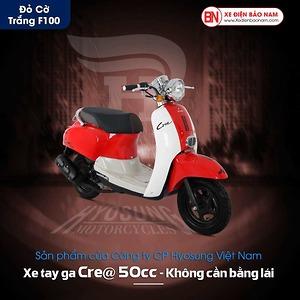 Xe ga 50cc Crea Hyosung màu đỏ