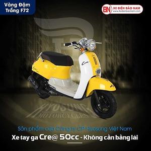 Xe ga 50cc Crea Hyosung màu vàng