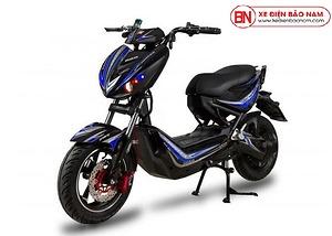 Xe máy điện Xmen Hunter Osakar màu đen tem xanh
