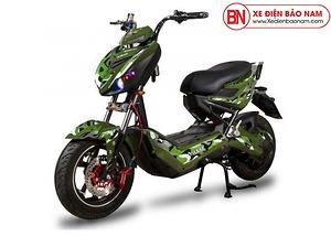 Xe máy điện Xmen Hunter Osakar màu bộ đội