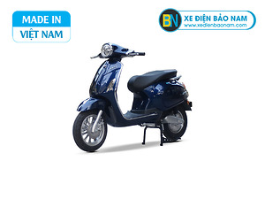 Xe máy điện Vespa Lima màu xanh 2 phanh đĩa