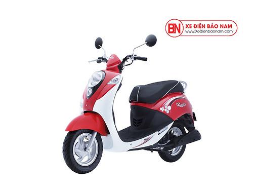 Xe ga 50cc Elite Sym màu trắng đỏ