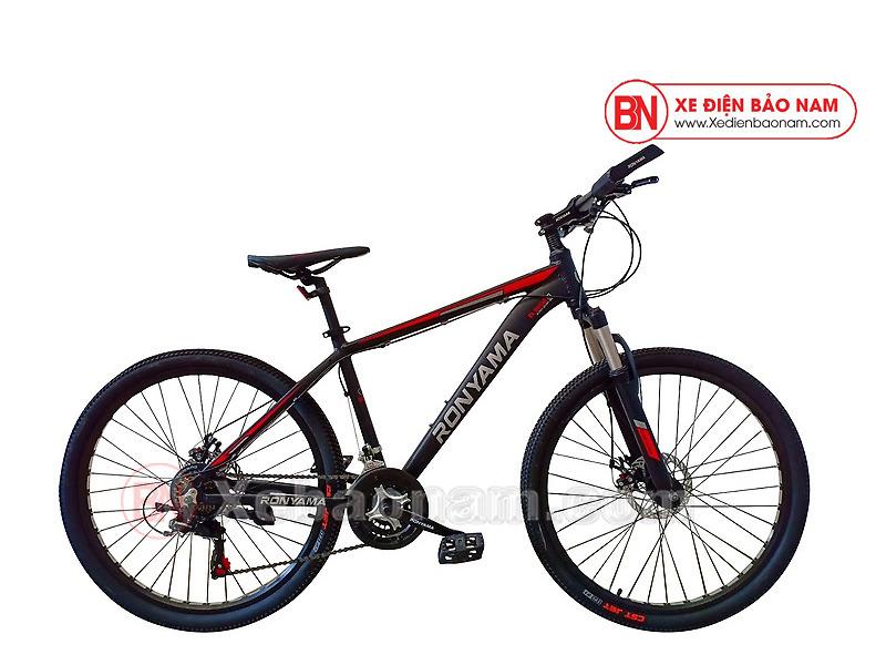 Xe đạp Ronyama mới nhất màu đen đỏ