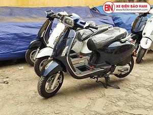 Xe ga 50cc Nio S chính hãng Nioshima Đèn Vuông 2020 Màu Đen