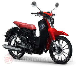 Xe máy CUB 50 SYM Lwen màu đen đỏ