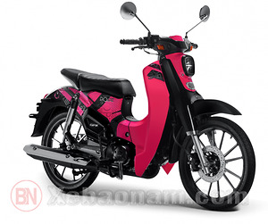 Xe máy CUB 50 SYM Lwen màu hồng