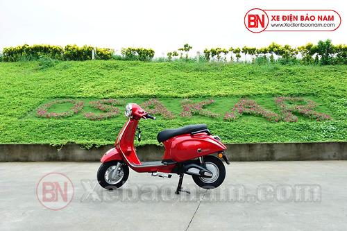 Xe máy điện Nispa SV Osakar màu đỏ